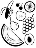 Fruit and berries. For a dessert in a vector Royalty Free Stock Photography