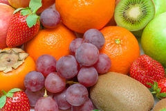 Fruit and berries close-up Stock Images