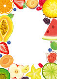 Fruit and Berries frame Royalty Free Stock Images