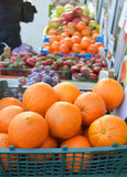 Fruit and berries for sale. near vegetable stall. Royalty Free Stock Photography