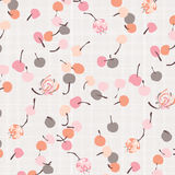 Fruit Berries. Sweet Fruit Berries and Flower Pattern Stock Photos