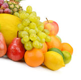 Fruit and berries on a white background Stock Image