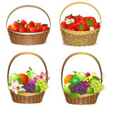 Fruit and berry baskets Royalty Free Stock Image