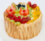 Fruit and berry cake Stock Photo