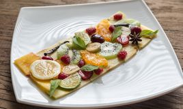 Fruit and berry carpaccio Royalty Free Stock Photos