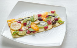 Fruit and berry carpaccio Royalty Free Stock Images