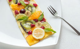 Fruit and berry carpaccio Royalty Free Stock Photo