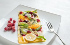 Fruit and berry carpaccio Stock Images