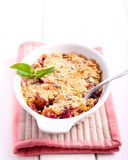 Fruit and berry crumble cake Stock Image