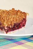 Fruit berry crumble pie slice Stock Image