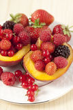 Fruit - berry dessert Stock Photography