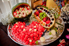 Fruit and berry mix Royalty Free Stock Images