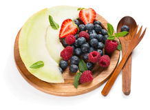 Fruit and berry mix salad Royalty Free Stock Images