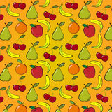 Fruit and berry pattern Royalty Free Stock Image