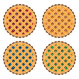Fruit and berry pies, vector  Royalty Free Stock Photos