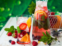 Fruit and berry punch Royalty Free Stock Images