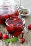 Fruit berry red tea Stock Photos