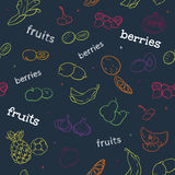 Fruit and berry seamless pattern Stock Photography