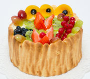 Fruit and berry sponge cake Royalty Free Stock Photography