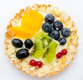 Fruit and berry tartlet Stock Images