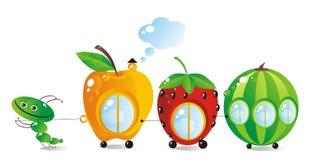 Fruit-bes plattelandshuisjes Stock Afbeeldingen