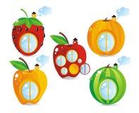 Fruit-bes plattelandshuisjes Stock Afbeelding