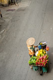 Fruit Bike Vendor, Hanoi Vietnam Stock Images