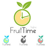 Fruit Bio Logo Royalty Free Stock Photo