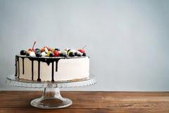 Fruit birthday cake Royalty Free Stock Image