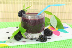 Fruit Black berry juice Royalty Free Stock Photos