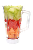 Fruit in Blender Stock Photography