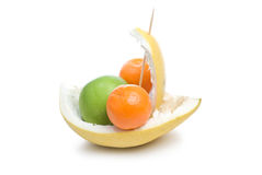 Fruit boat. Royalty Free Stock Photo