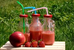 Fruit boom Strawberry stock image