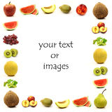 Fruit border Stock Photography