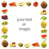 Fruit border Stock Photography