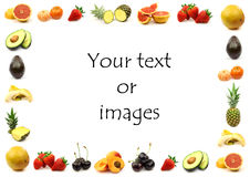 Fruit border. With room for your text and images Royalty Free Stock Photo