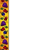 Fruit border stock images