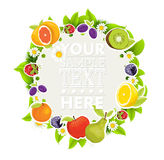 Fruit border Stock Images