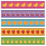 Fruit borders Royalty Free Stock Photos