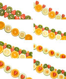 Fruit borders collection Stock Image