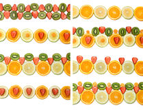 Fruit borders collection Stock Photos