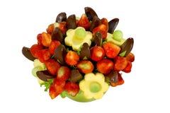 Fruit bouquet. Assorted colorful fruits arranged into a decorative bouquet Stock Photo
