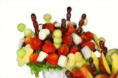 Fruit bouquet closeup Stock Photos