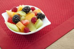 Fruit in a bowl. Royalty Free Stock Image