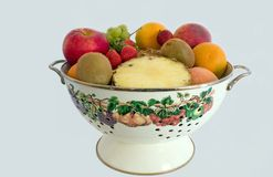 Fruit bowl. Some fresh fruit filling this pretty bowl stock images