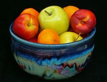 Fruit bowl. Bowl of fresh fruit royalty free stock image