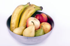 Fruit Bowl. Fruit on white, healthy, dietetic and natural Stock Image