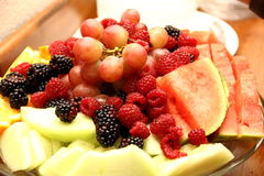 Fruit Bowl. Mouth watering Fruits arranged neatly Royalty Free Stock Images