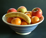Fruit bowl. Bowl of fruit stock photo