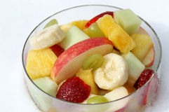 Fruit Bowl. A bowl of fresh fruit for breakfast is a great way to start the day in a healthy way Royalty Free Stock Photo